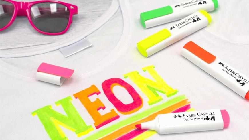 Faber-Castell Neon tekstiilikynät